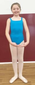 light blue leotard