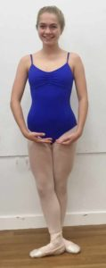 blue leotard