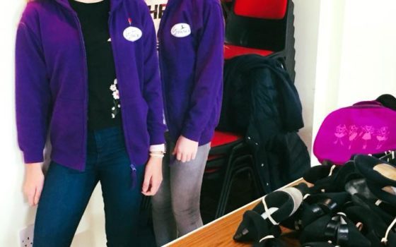 Ivy and Ella all ready to sell second hand uniform – 5th November